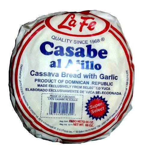La Fe Casabe De Ajo Super Selected Garlic Cassava Bread From Dominican Republic 8 Oz