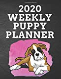 2020 WEEKLY PUPPY PLANNER: 8.5'x 11' 115 Page Boxer Dog Dog Lover Gift with Pink on Black Back Academic Year At A Glance Planner Calendar With To-Do ... for Boxer Dog Fans (Boxer Dog 2020 Planners)