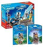 PLAYMOBIL Ritter 70290 Knight 70236 Wolfskrieger + 70240 - Juego de 3 piezas
