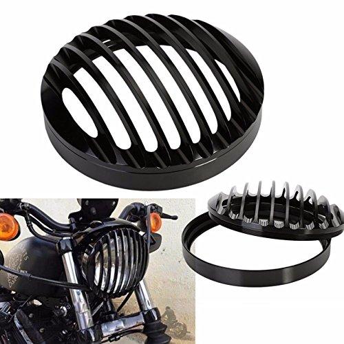 KaTur - Copertura per griglia anteriore in alluminio nero per Harley Sportster XL 883 1200 2004-2014
