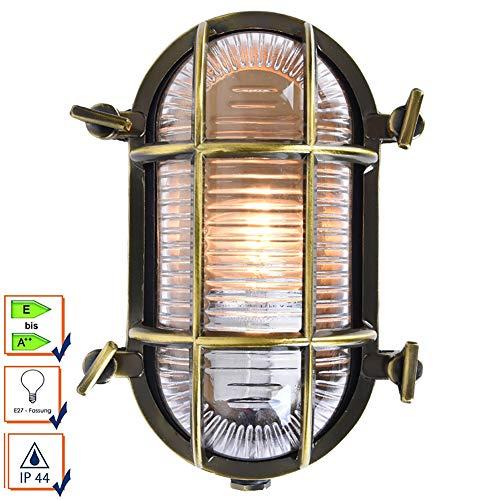 Aplique Exterior Impermeable A Prueba De Humedad A Prueba De Explosiones, Lámpara De Pared Al Interior O Exterior De Luz Impermeable Marino Nautical Lámpar, Lampara De Pared Industrial Retro