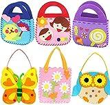 BETOY 6 Kits Set de Costura Niños, Kits de Costura para Niñas Creativas Juguetes de Coser Pare Decorar y Jugar