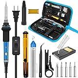 Soldering Iron, Soldering Iron Kit Electronics, 60W Adjustable Temperature Welding Tool, 5pcs Soldering Iron Tip,...