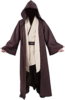 Very Last Shop Classic Movie Costume Brown Robe White Tunic and Pants Set Cosplay Outfit
