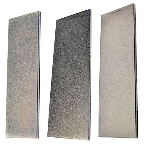 3pc Professional Diamond Sharpening Stone 6' Extra Fine/Fine/Coarse