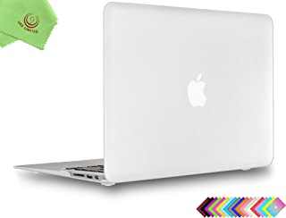 UESWILL Smooth Soft-Touch Matte Hard Shell Case Cover for 2008-2017 MacBook Air 13 inch (Model A1466 / A1369) + Microfibre Cleaning Cloth, Clear
