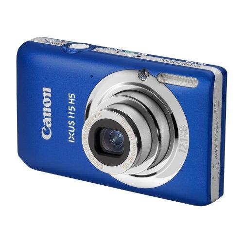 Canon IXUS 115 HS Digitalkamera (12 MP, 4-fach opt. Zoom, 7,6cm (3 Zoll) Display, Full HD, bildstabilisiert) blau