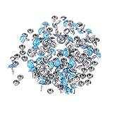 SUPVOX 50 pezzi 8mm blu turchese rivetti rapidi borchie fai-da-te in pelle per scarpe borsa bracciale in pelle Tandy