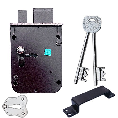 RAMSON Iron Dyna Slim 6 Levers 100 Mm 2 in 1 Double Chal Door Inter Lock with a Tower Bolt (Silver)