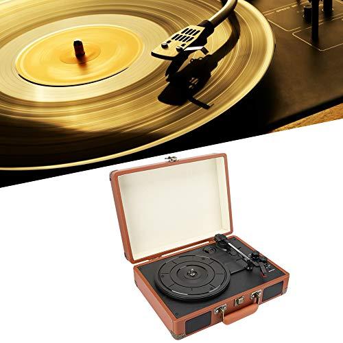 Retro Vinyly Bluetooth Jukebox, PH/INT/BT 2.0 Stereo 3-snelheid Bluetooth Vinyl draaitafel-speler, draagbare Vintage 18/20/30cm platenspeler ondersteunt Bluetooth/Vinyl Record/USB Playback(EU)