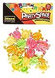 Idena 40436 Partyspaß Springfrösche, 24 Stück, in den knalligen Farben gelb, orange, pink & grün, Größe ca. 3 x 3 cm