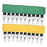 zfdg Organizador Gorras Sombrero, 2 Piezas Colgar Gorras Béisbol, Gorras Organizador Percha, Organizador Gorras, con 10 Clips Acero para Sombreros, para Gorros, Calcetines, Toallas (Amarillo y Verde)