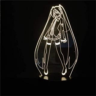 Hatsune Miku 3D Led Table Lamp Gifts for Teenage Girls USB Charge for Home Decor Cool Toys Gifts Birthday Christmas