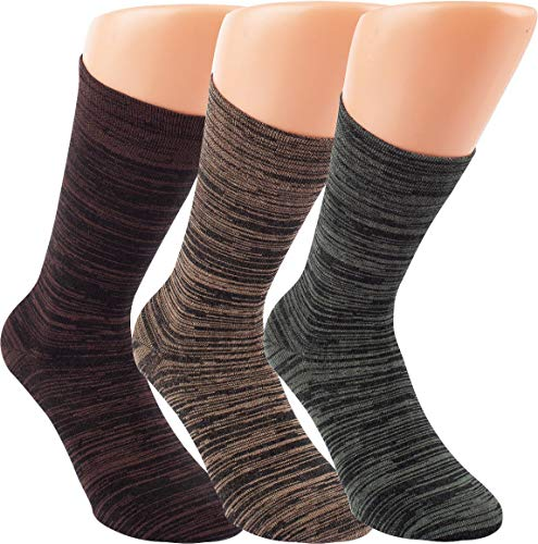 RS. Harmony | Socken und Strümpfe | Bambus Super Weich Atmungsaktiv | 3 Paar | olive, natur, dunkelbraun | 43-46