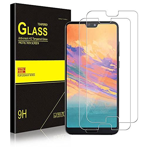 wsky [2 Stück] Panzerglas Schutzfolie für Huawei P20 Pro, Anti-Kratzen Schutzfolie, HD Displayschutzfolie, Fingerabdruck-ID Unterstützen, Panzerglasfolie für Huawei P20 Pro