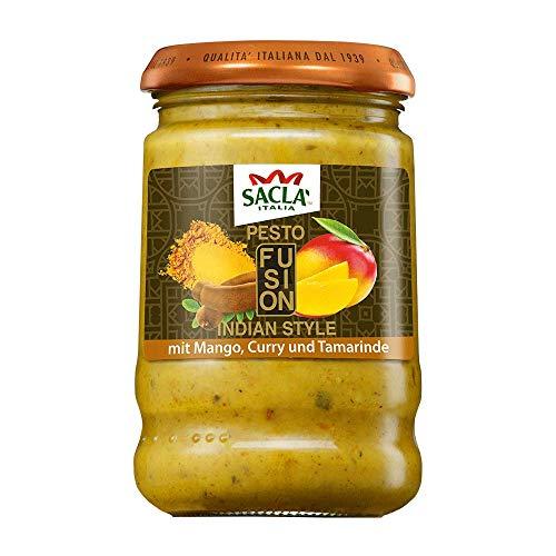 Saclà Pesto Fusion: Indian Style   Mit Mango, Curry und Tamarinde   Für Nudeln, Pasta & Saucen   190 g