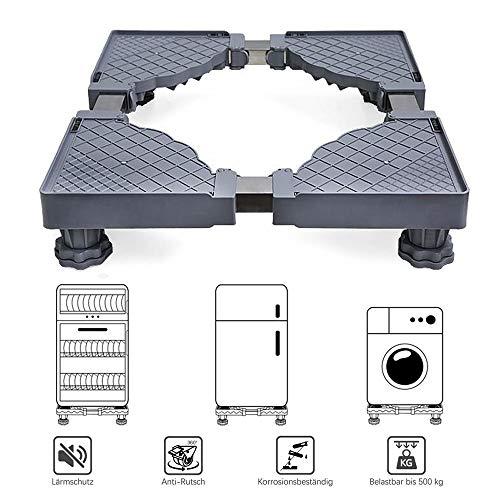 Plateau des ménages Socle de Machine à Laver, Support, trépied, Support élevé pour Coussin de Roue Universel Mobile, Portant 500 kg