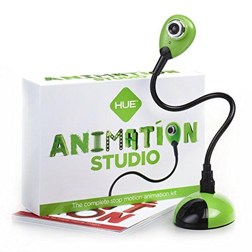 HUE Estudio de Animación (Verde) para Windows: Kit Completo para la realización de animaciones Stop Motion. Incluye Libro en español.