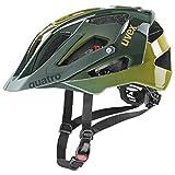 uvex Quatro Casco de Bicicleta, Unisex-Adult, Forest-Mustard, 52-57 cm