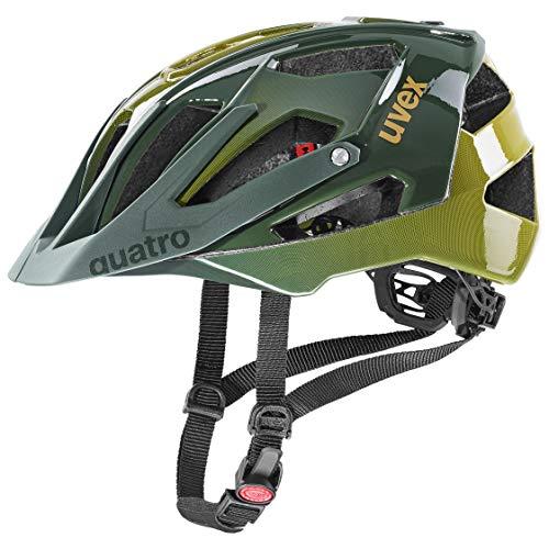 uvex Unisex– Erwachsene Quatro Fahrradhelm, Forest - Mustard, 56-60 cm