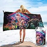 vfrtg Stranger-Things-Season Toalla de baño Toalla de Playa para Piscina Toalla Silla de Playa Bicicleta de Playa Yoga Viaje Camping Gimnasio Baño de natación Niña Adulto Mujeres Hombres 31.5 '' x63