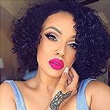 N&T Short Curly Human Hair Wigs 8A Brazilian Virgin Hair for Black Women Natural Looking