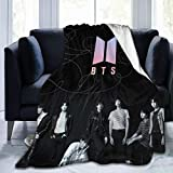 Flannel Fleece Throw Blanket K-POP Sealed BTS Super Soft Lightweight for Couch Sofa Throw, Office Lap, Travel Camping Throw 50x60inch
