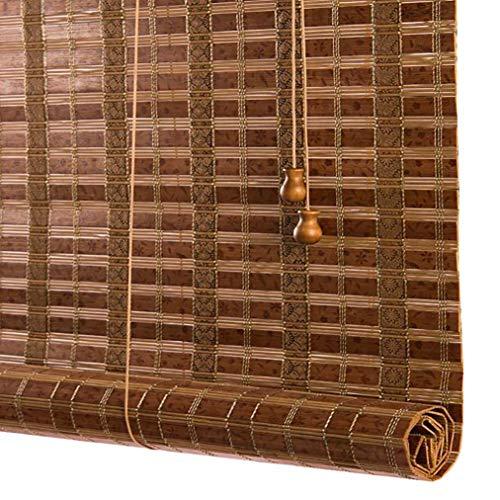 JCJ-Shop Persianas Enrollables De Bambú para Exteriores, con Filtro De Luz De Valencia, Protector Solar, Cortina Ajustada, DecoracióN para El Hogar Y La Oficina (17.7x39.4 Pulgadas)