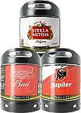 Pack 3 fûts de 6 litres - Compatibles avec la tireuse Perfectdraft - 15 euros de consigne INCLUS (Bud - Stella Artois -...