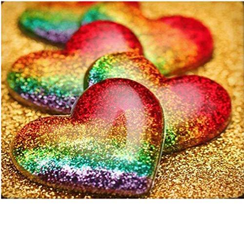 CYKEJISD Puzzle 1000 Pezzi Immagine di Amore Cuore Arcobaleno Puzzle Classico Puzzle 3D Giocattolo di Legno Casa