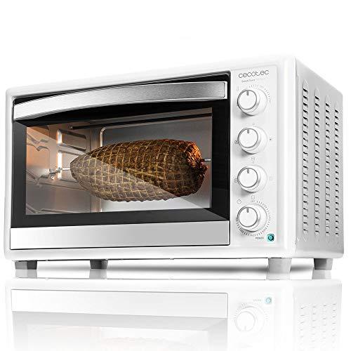 Cecotec Bake&Toast 790 - Horno Sobremesa, Capacidad de 46 litros, 2000 W, 12 Modos, Temperatura hasta 230ºC y Tiempo hasta 60 Minutos, Incluye Accesorio Rustidor con pinzas