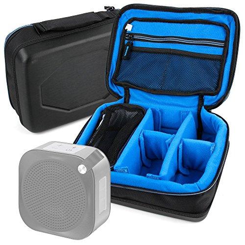 DURAGADGET Bolsa Acolchada Profesional Negra con Compartimentos para Altavoz Portátil JVC SP-AD50-B/SP-AD50-W