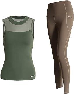 Yoga Wear Neckline Mesh Design Sport Suits Women's Sweatsuits Yoga Jogging Tracksuits