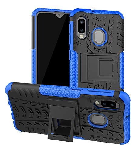 Yiakeng Galaxy A10E Case, Samsung A10e Case, Shockproof Slim Protective with Kickstand Hard Phone Cover for Samsung Galaxy A10E (Blue)