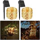 2 juegos de luces solares de cuerda al aire libre (240LED,79 pies)Luces de jardín solares de hadas Impermeables 8 modos Luz de decoración navideña, luz de cuerda de para dormitorio jardín, boda,fiesta