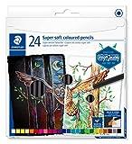 STAEDTLER-149C ST Lápiz de color super suave, Multicolor, 1 Caja con 24 (149C C24)