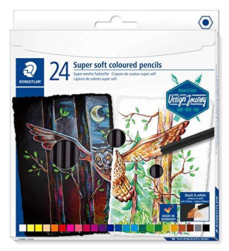 Lápis de Cor, Staedtler, Super Soft, 149C C24, 24 Cores