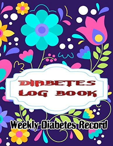 Portable Diabetes Log: Simple Diabetes Checker Blood Sugar And Insulin Journal Size 8.5x11 Inches Glossy Cover Design Cream Paper Sheet ~ Keep - Work # Portable 100 Pages Standard Print.