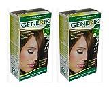 Générik GENERIK - KIT COLORATION PERMANENTE CHEVEUX BLOND MOYEN DORE 6. 3 - LOT DE 2