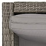 SVITA Queens 2020 Poly Rattan Sitzgruppe Couch-Set Ecksofa Sofa-Garnitur Gartenmöbel Lounge Schwarz - 8