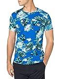 Superdry M1011032A Camiseta, Palm Blue, L para Hombre