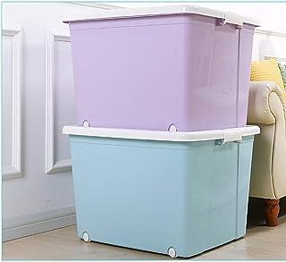 MU Boîte de Rangement portative à Usage Domestique en Bois Massif, boîte en Plastique avec Couvercle Grands vêtements Rang...