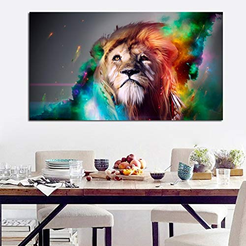 YuanMinglu Rahmenlose malerei Wand Poster Farbe Lion aquarell leinwanddruck Kunst leinwand Wohnzimmer Moderne Dekoration 40x70 cm
