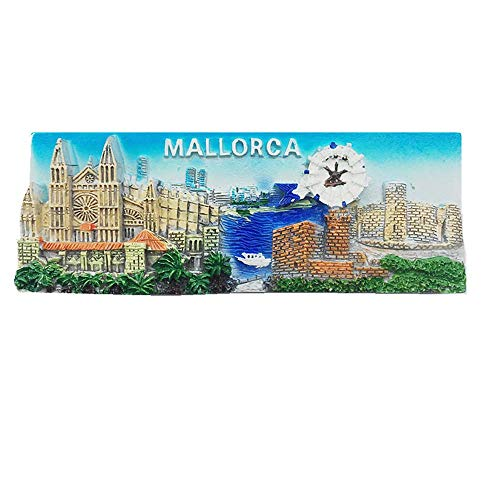 Imán de nevera 3D Mallorca España para regalo de recuerdo de recuerdo magnético colección de artesanía