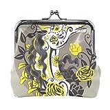 Borsa da donna a portafoglio con portamonete stile teschio di zucchero con cavallo
