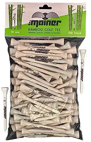 Emainer Golf Tees - 70 mm - 100 Stück - Bambus Tee