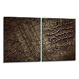 QTA - Set de 2 placas de 40 x 52 cm para cubrir vitrocerámica y vitrocerámica, tapa de cristal, placa de corte, color marrón