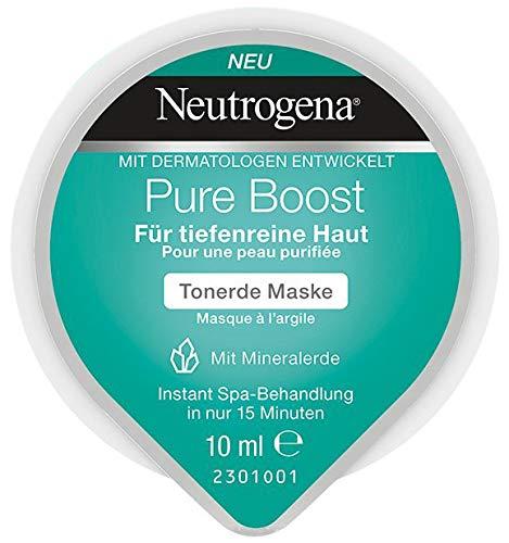 Neutrogena Pure Boost Tonerde Maske - Tonerde Maske mit Mineralerde für tiefenreine Haut - 1 x 10ml