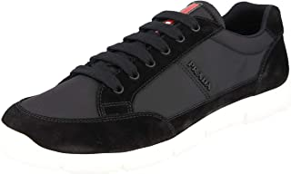 7171bb60f Prada Men's 4E3222 OJW F0002 Leather Sneaker