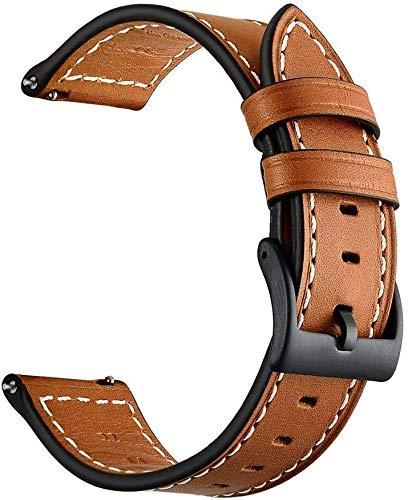 Aimtel Armband Kompatibel mit Galaxy Watch 46mm Armband/Gear S3 Classic/Gear S3 Frontier Armband, 22mm Lederarmband Ersatzband für Galaxy Watch 46mm & Gear S3 Classic & Gear S3 Frontier(Braun)